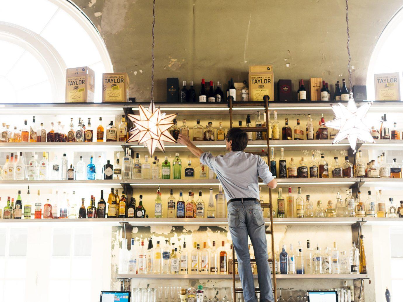 Trip Ideas indoor building retail interior design grocery store liquor store counter