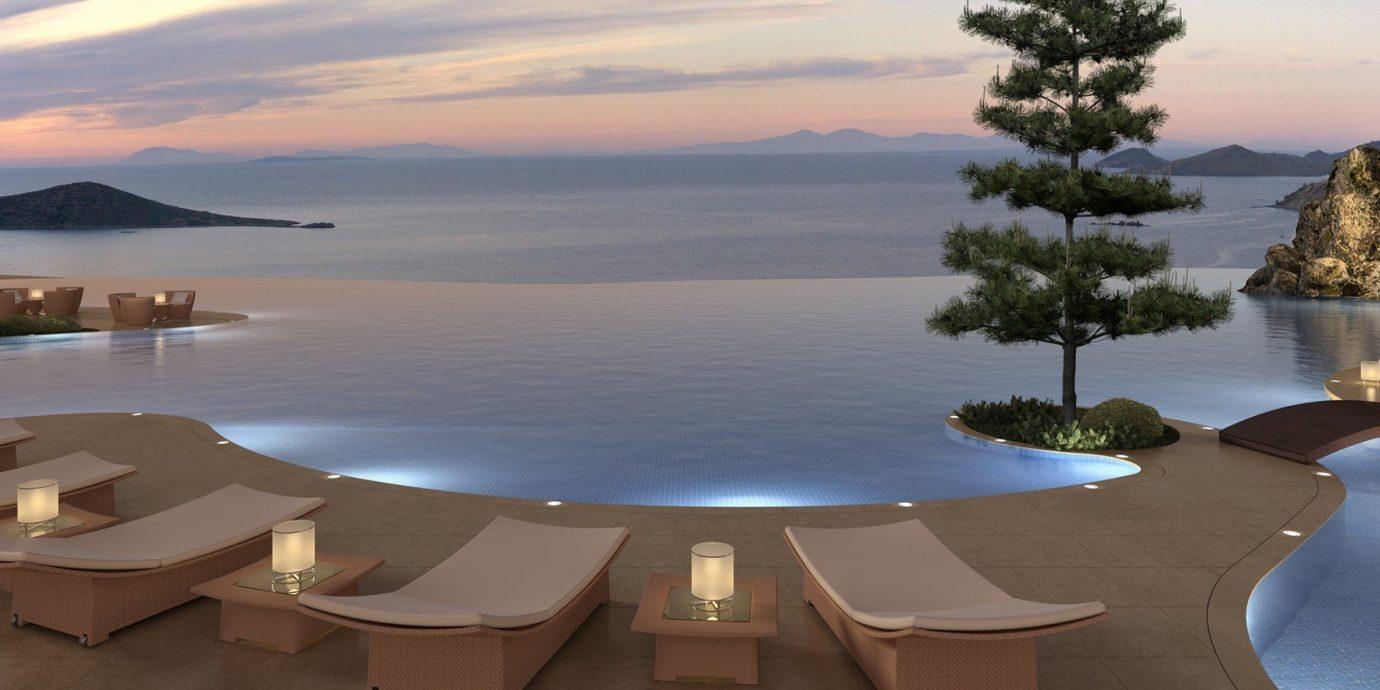 Hotels water sky outdoor property Resort estate vacation Nature screenshot swimming pool overlooking Villa bay mansion shore Island