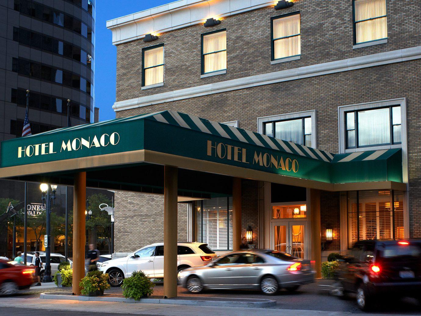 Boutique City Exterior Modern Mountains + Skiing Trip Ideas building outdoor road neighbourhood street Downtown residential area facade restaurant sign