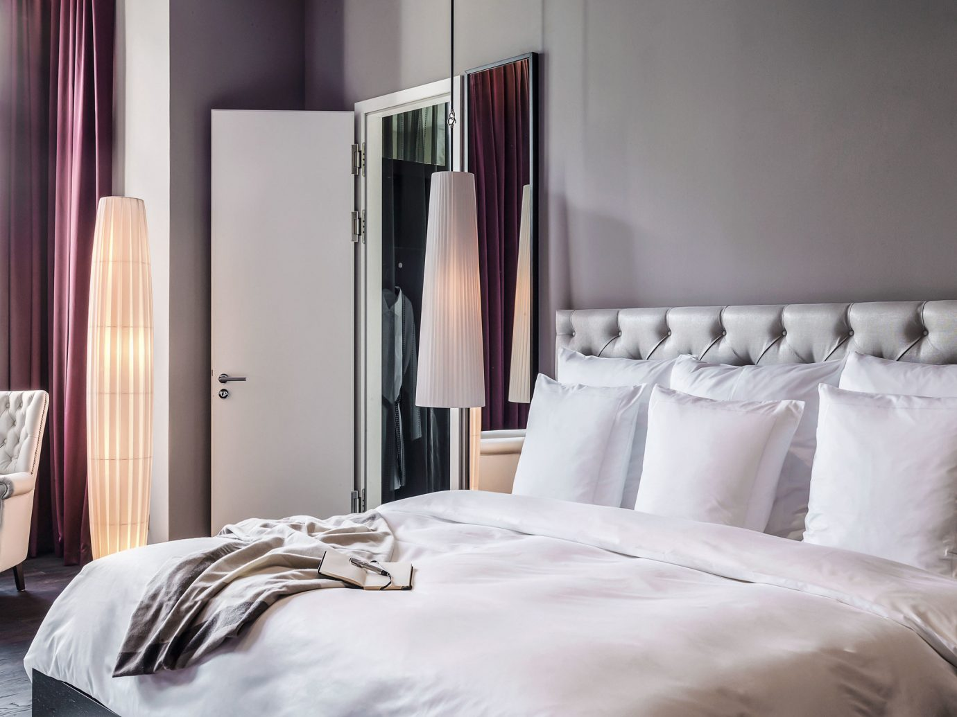 Berlin Boutique Hotels Germany Hotels Luxury Travel bed indoor wall hotel floor room Bedroom property interior design furniture pillow Suite bed sheet cottage bed frame textile apartment bedclothes
