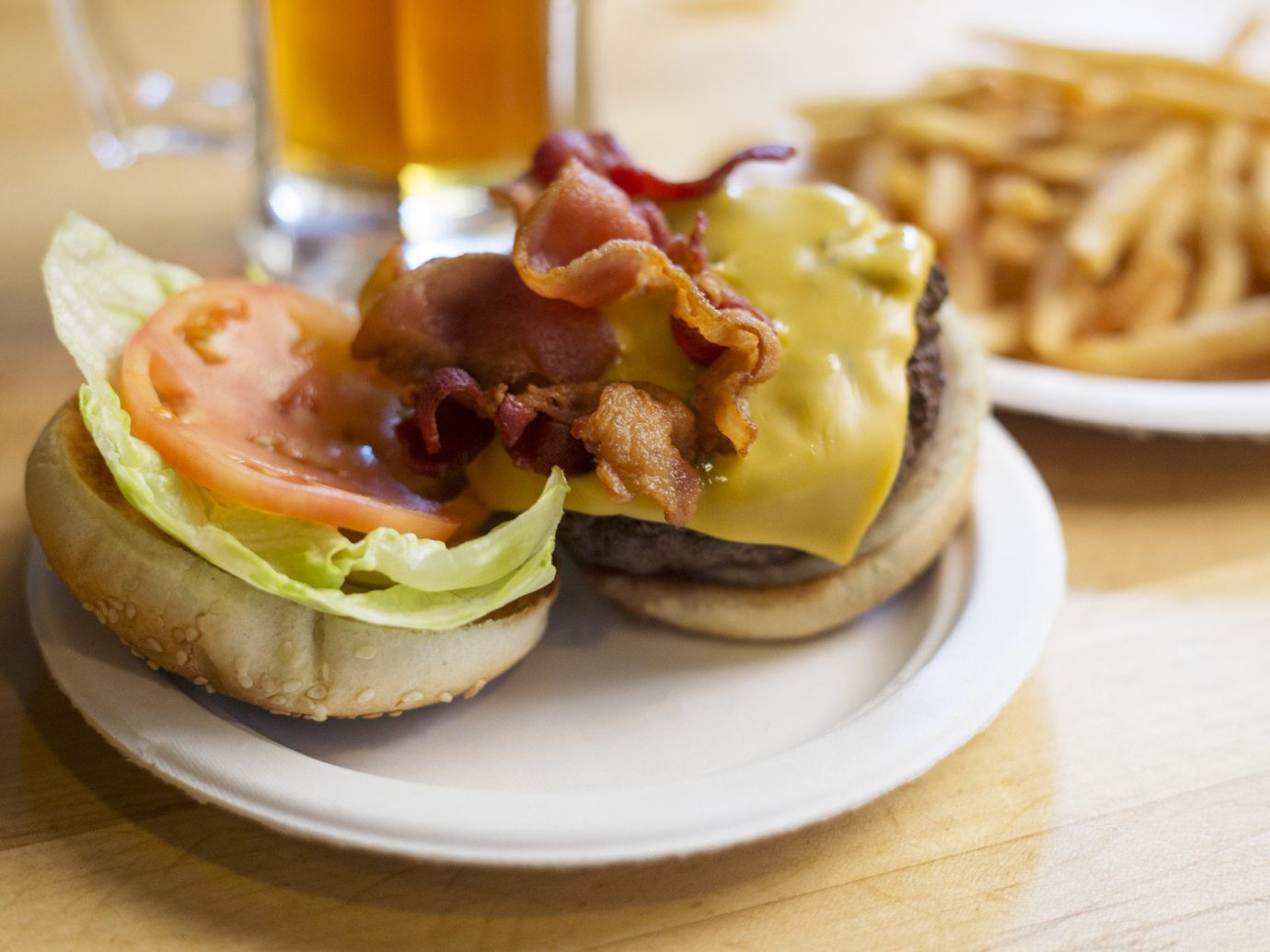 Budget food table plate cup hamburger dish meal cheeseburger slider fries meat veggie burger breakfast sandwich lunch produce fast food cuisine snack food