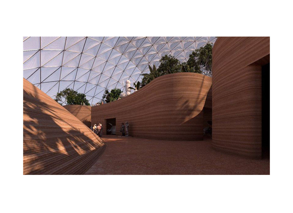 News Offbeat Architecture wood roof angle wooden facade house shade pavilion landscape