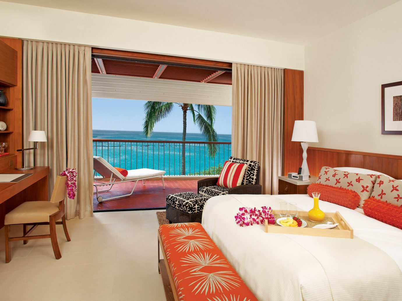 Balcony Bedroom Hotels Living Resort Scenic views indoor sofa floor room wall table ceiling window property Suite estate cottage furniture real estate interior design hotel home Villa living room apartment nice decorated flat