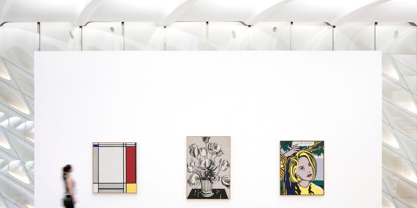 Arts + Culture scene gallery room indoor exhibition modern art interior design brand Design art gallery ceiling