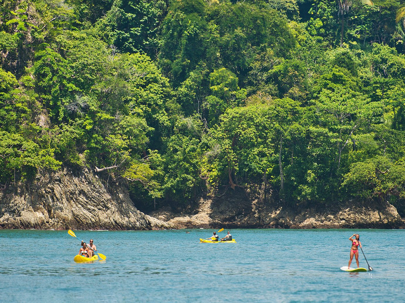 Adventure Beach Country Eco Jungle Modern Outdoor Activities Resort Romance Scenic views Sport Trip Ideas Waterfront tree water outdoor body of water Boat boating River vehicle watercraft Lake bay Sea kayak paddle surrounded swimming Raft