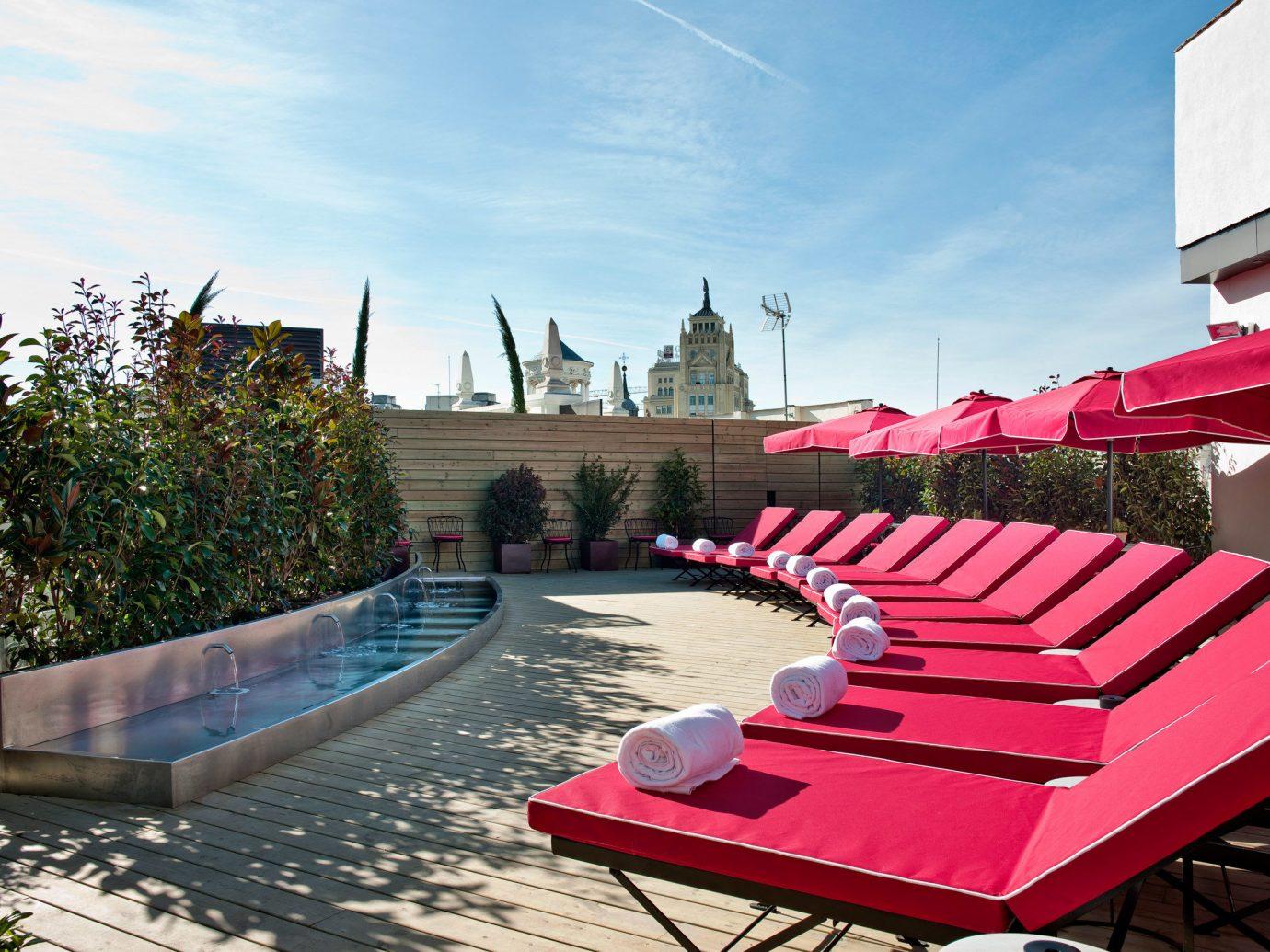 Hotels Madrid Spain sky outdoor ground leisure red swimming pool vacation Resort estate walkway