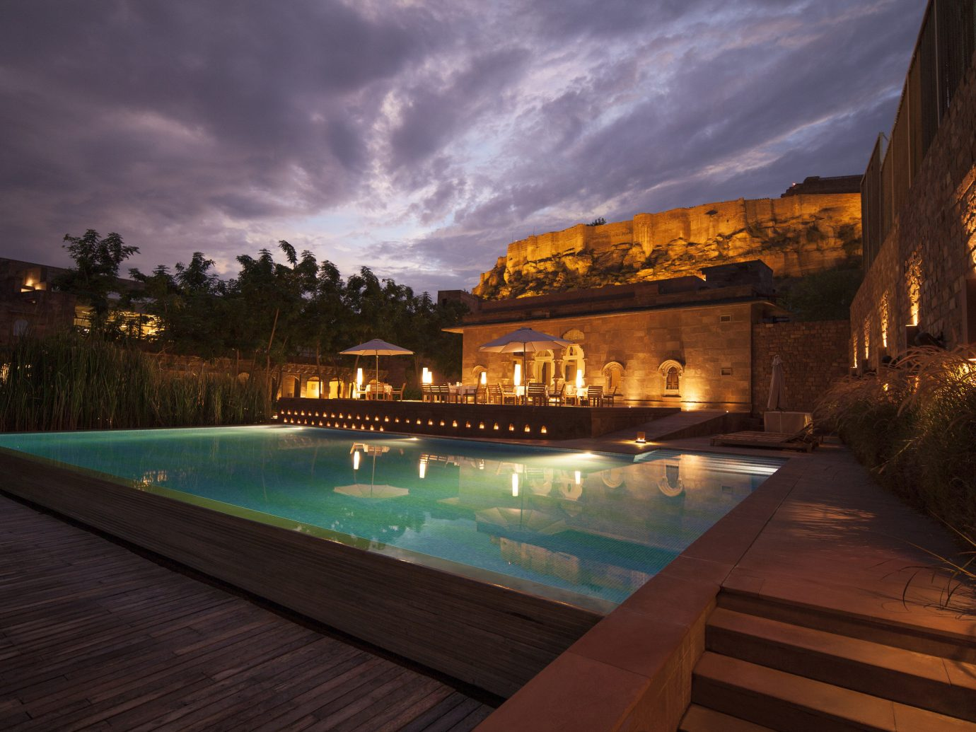 Hotels sky outdoor swimming pool estate Resort evening way mansion
