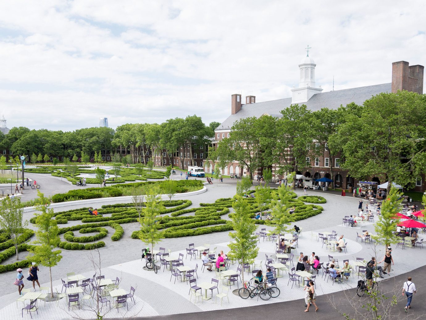 Glamping New York City tree mixed use urban design plant plaza town square recreation Garden outdoor structure park grass
