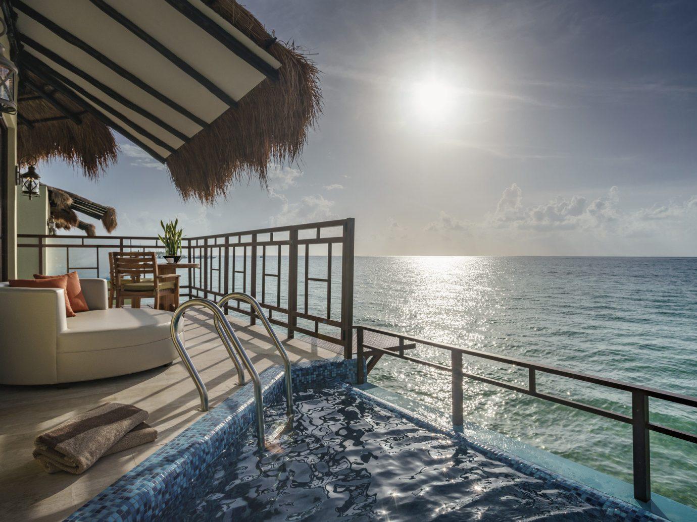 Hotels sky water outdoor scene Sea pier vacation Ocean vehicle swimming pool Resort overlooking day