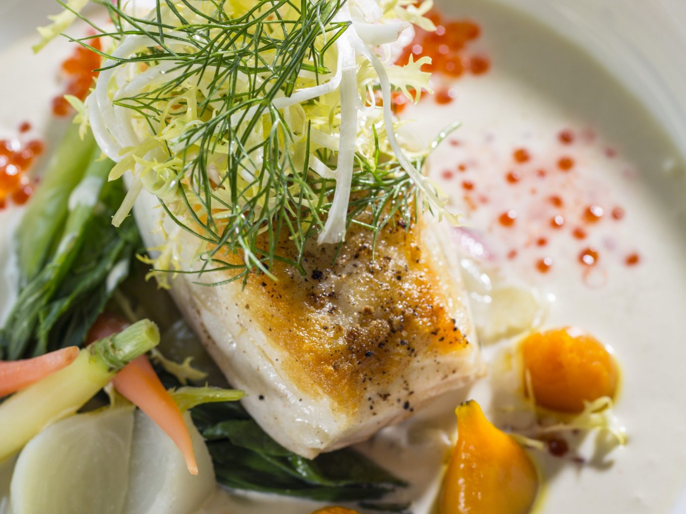 Boutique Hotels Hotels Outdoors + Adventure Trip Ideas Weekend Getaways plate food dish white fish meal produce cuisine smoked salmon garnish Seafood hors d oeuvre vegetable sauce meat