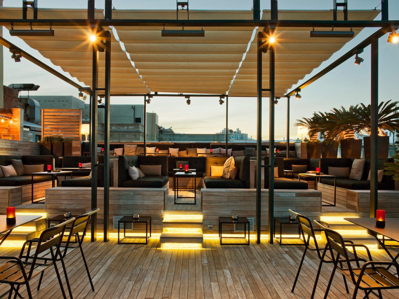 Bar Boutique Hotels Dining Drink Eat Hotels Luxury Nightlife Romantic sky restaurant plaza interior design lighting Design Lobby meal