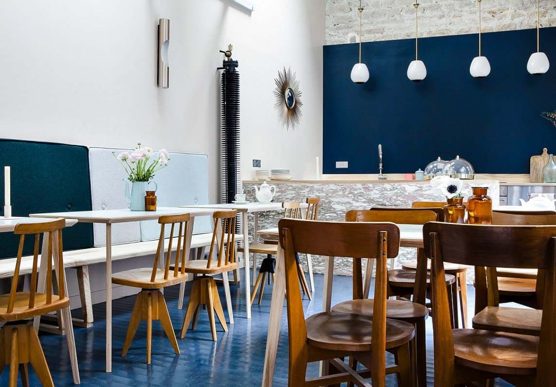 Boutique Hotels Hotels table chair floor wall indoor Dining furniture restaurant dining room room interior design wooden café area set dining table several