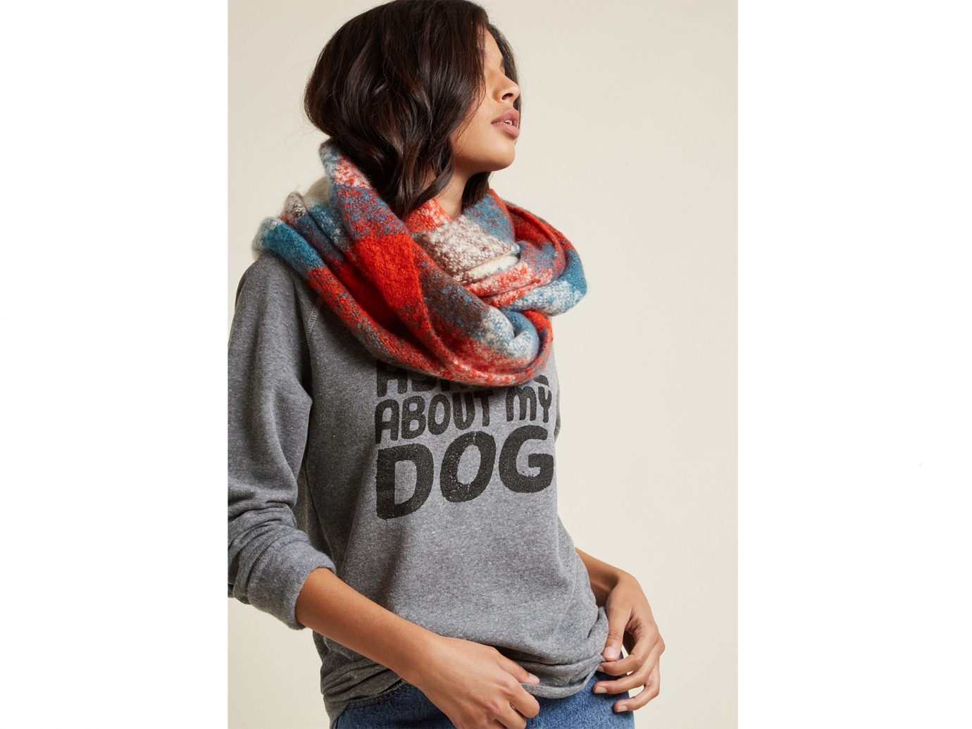 Travel Shop person clothing scarf stole neck woolen pattern