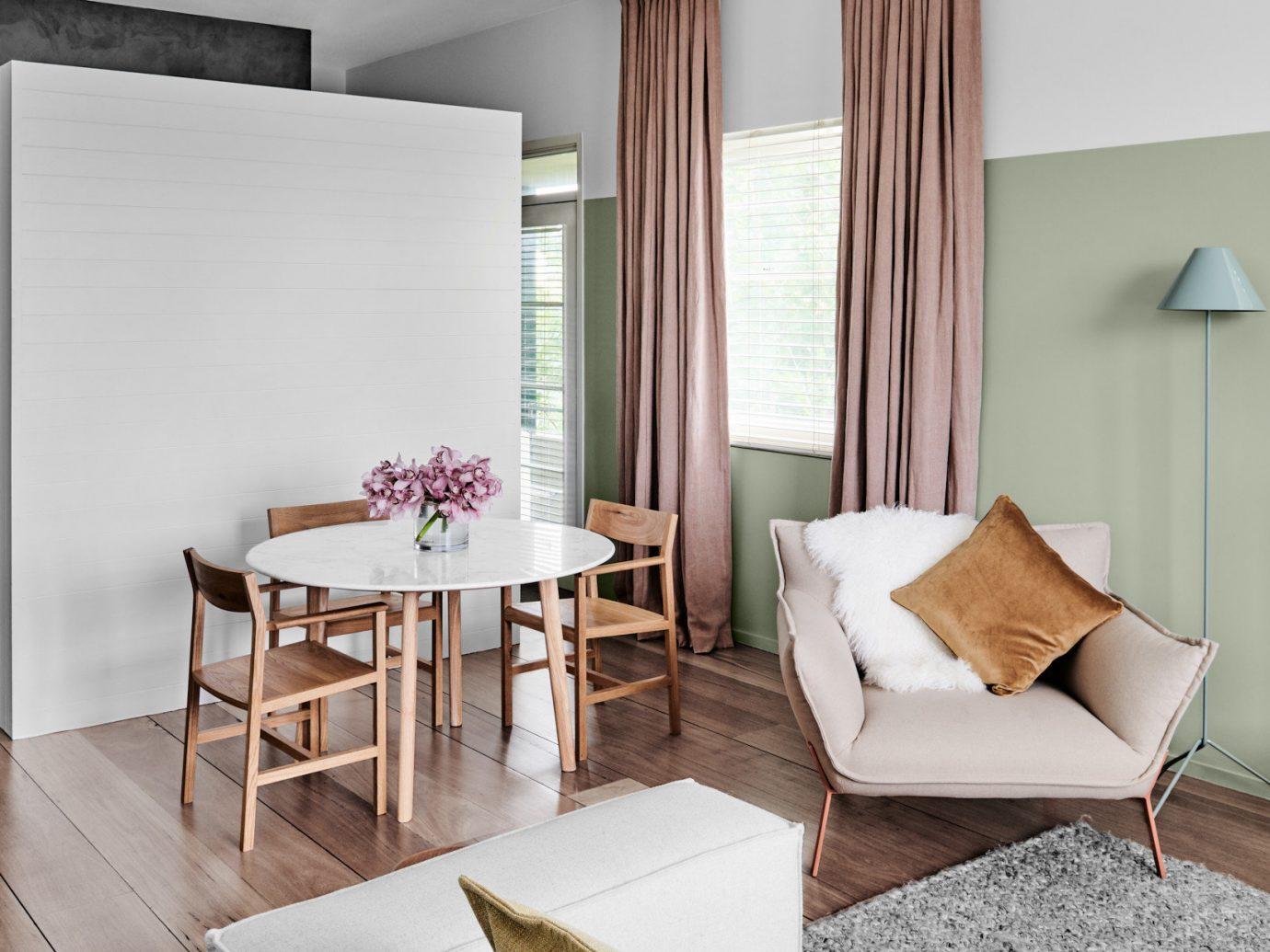 Australia Hotels Melbourne floor indoor room wall Living interior design table furniture living room product design interior designer Suite chair window area tan