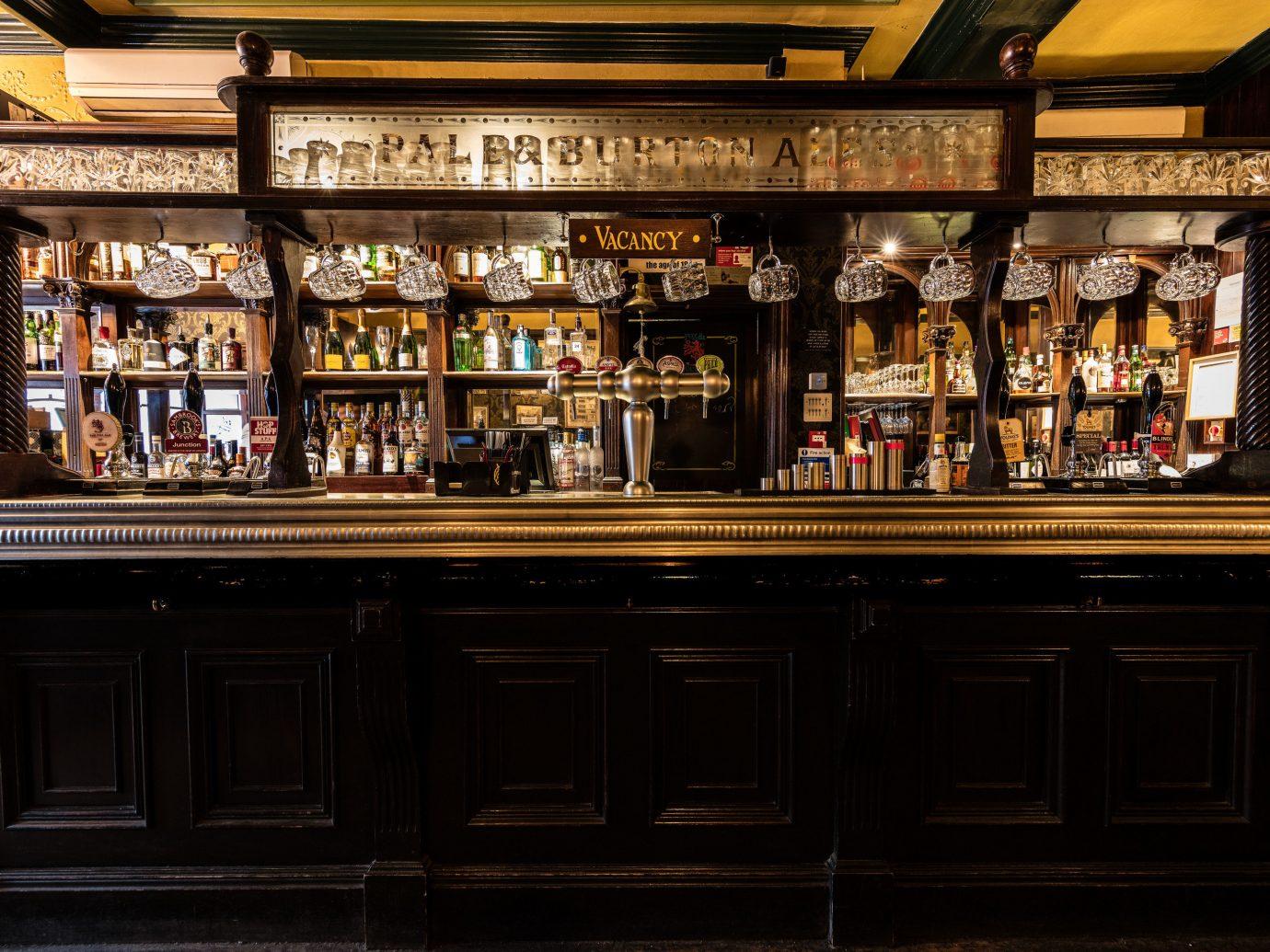 Budget Hotels London indoor shelf Bar building store liquor store several