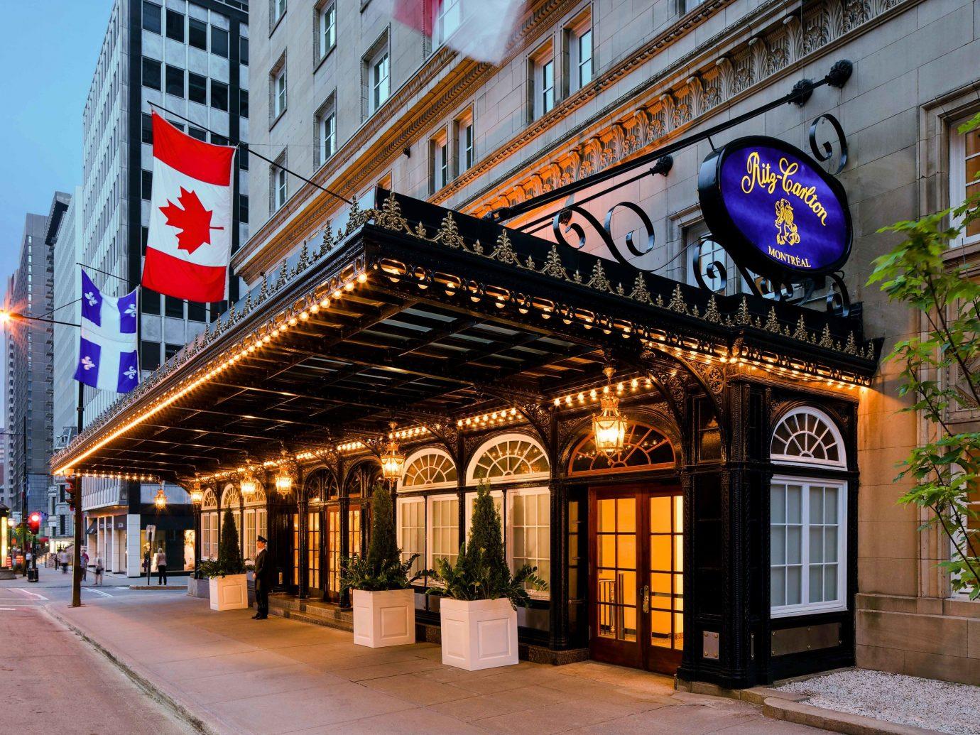Canada Hotels Montreal Trip Ideas landmark Town City neighbourhood Downtown building mixed use facade street
