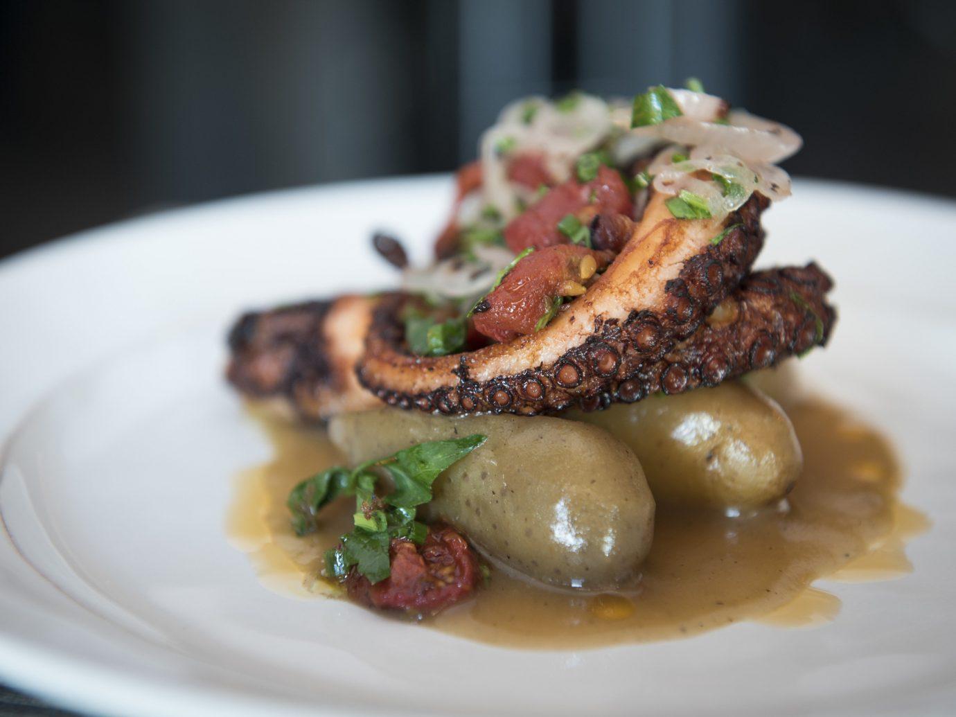 Travel Tips plate food dish white cuisine meal brunch appetizer meat dessert vegetable piece de resistance
