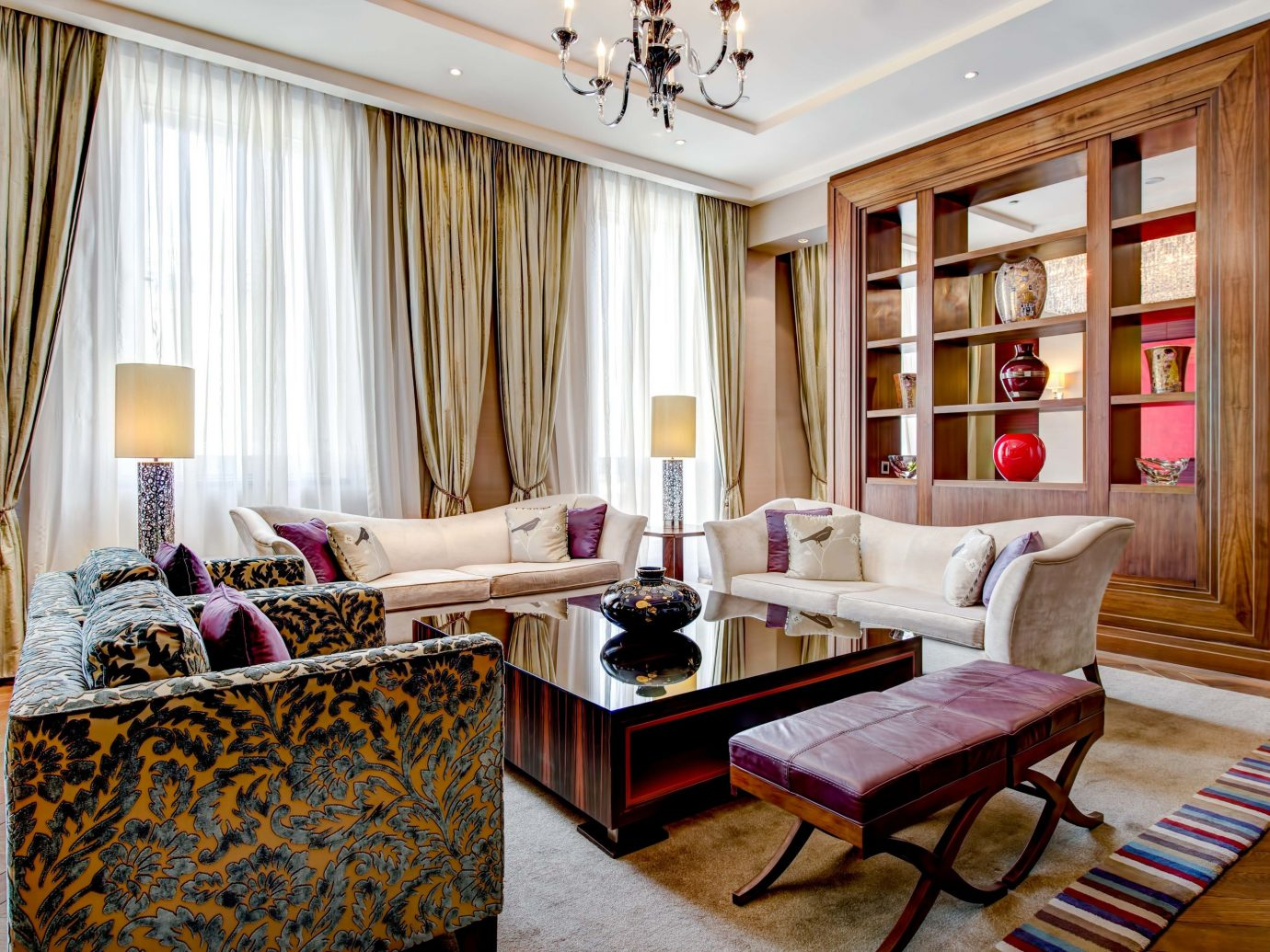 Arts + Culture Hotels Jetsetter Guides Luxury Travel indoor floor room Living window living room interior design Suite ceiling furniture home window treatment interior designer flooring Bedroom decorated