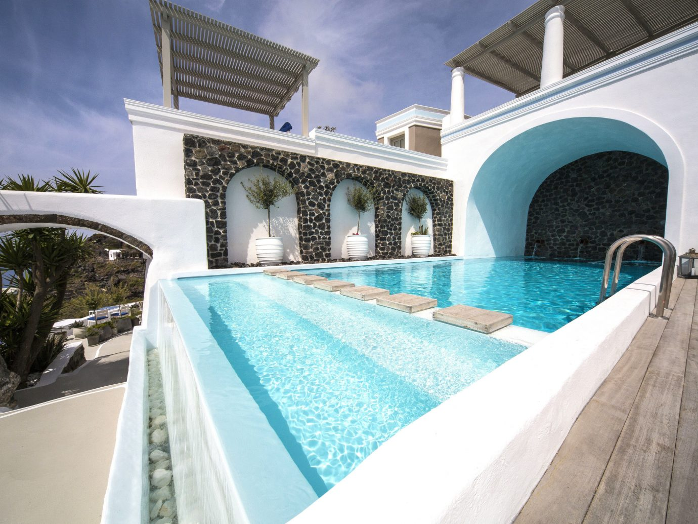 Greece Hotels Santorini outdoor Pool property swimming pool building estate water real estate Villa leisure hacienda amenity swimming tub stone