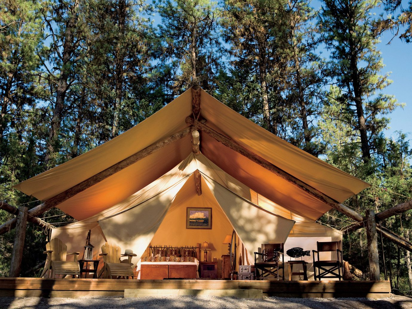 All-Inclusive Resorts Glamping Hotels Luxury Travel Trip Ideas tree outdoor temple shinto shrine tent shrine estate place of worship pavilion outdoor object wooded