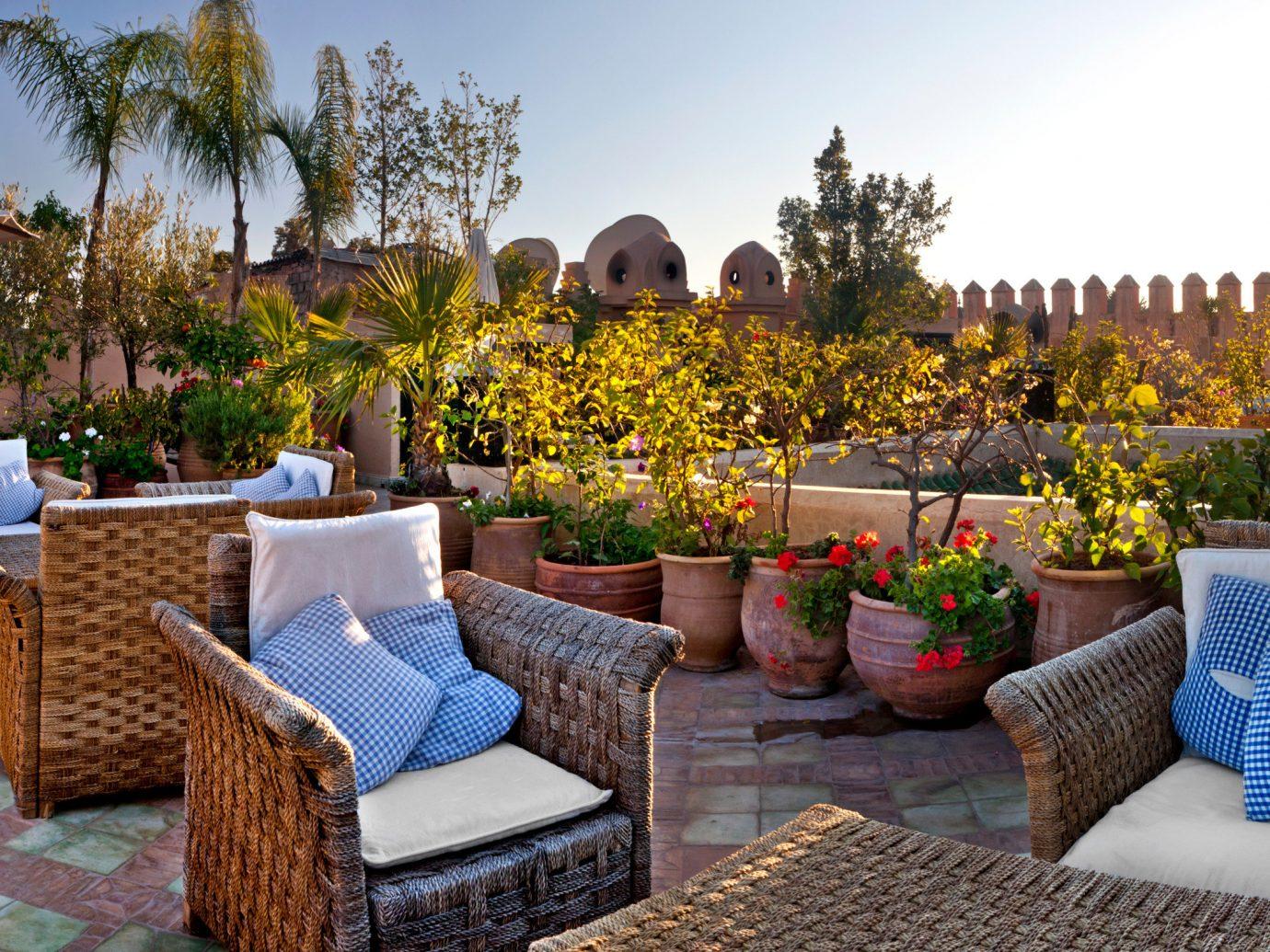 Outdoor space at Dar Les Cigognes, Marrakech, Morocco