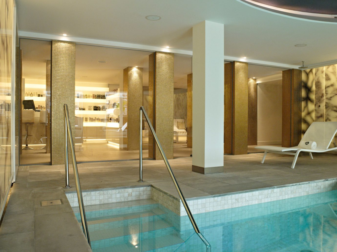 Amsterdam Hotels The Netherlands indoor floor swimming pool ceiling property room interior design lighting estate real estate condominium Design Lobby furniture