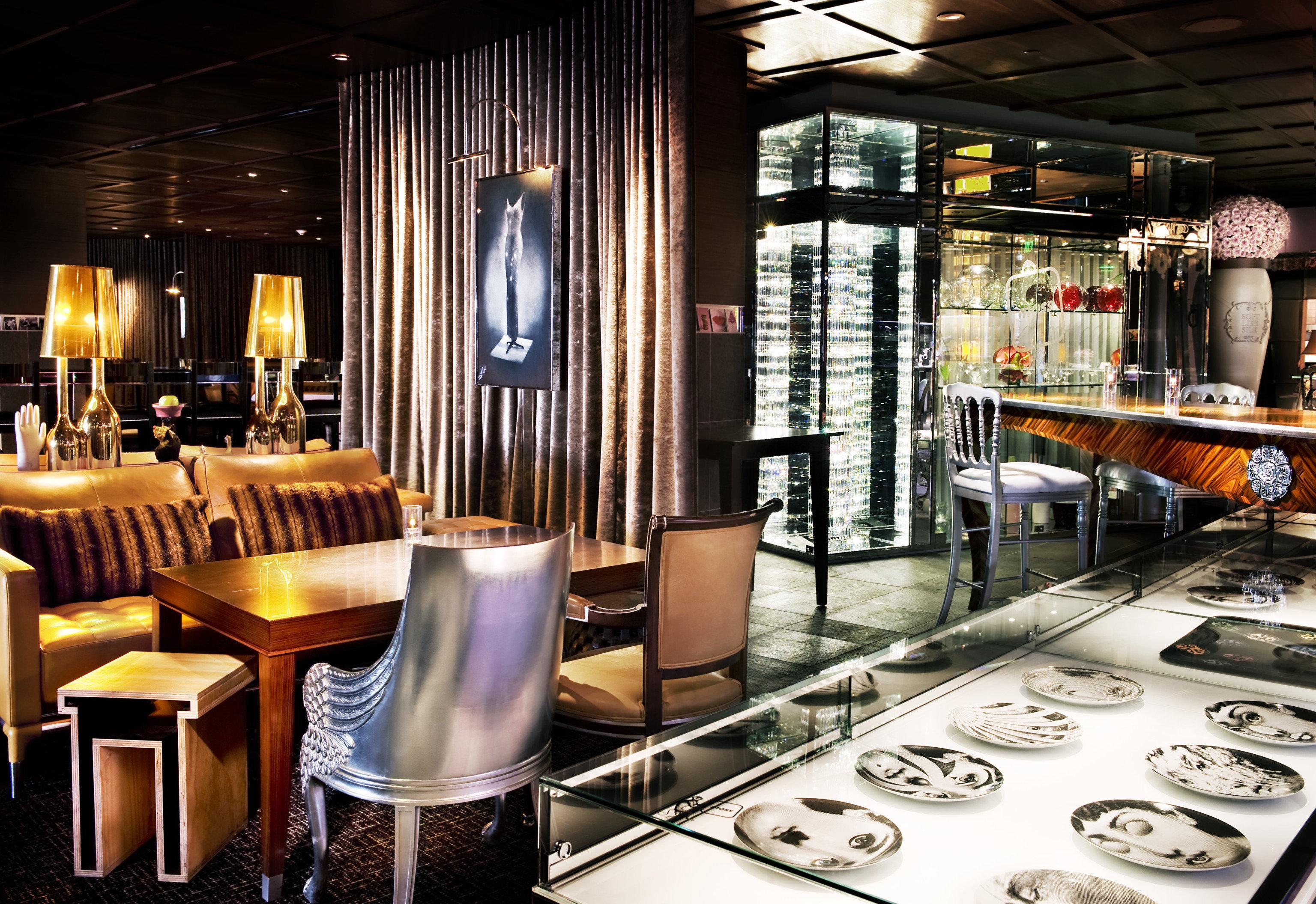 Hotels indoor room restaurant meal Bar interior design Design café several