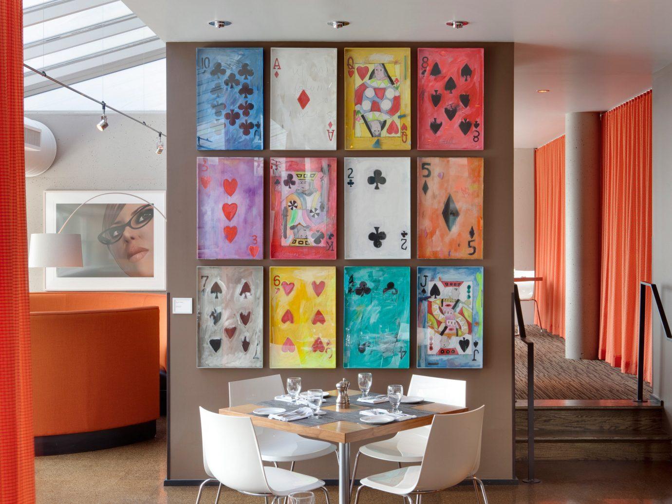 Secret Getaways Trip Ideas indoor wall floor room living room red interior design art home dining room furniture Design office window covering orange area