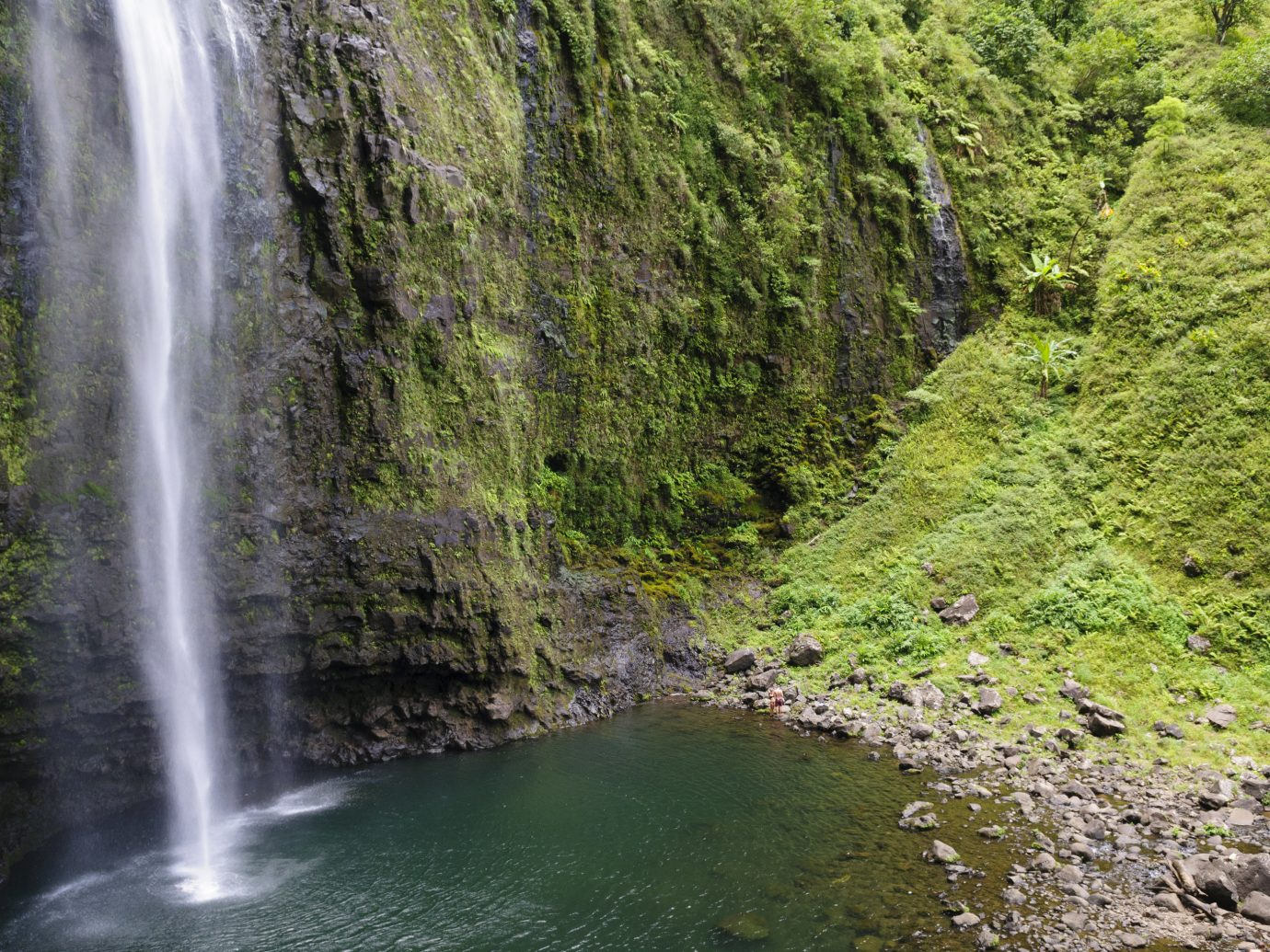Travel Tips Trip Ideas Nature outdoor Waterfall water tree body of water vegetation watercourse water feature River stream wasserfall ravine rainforest