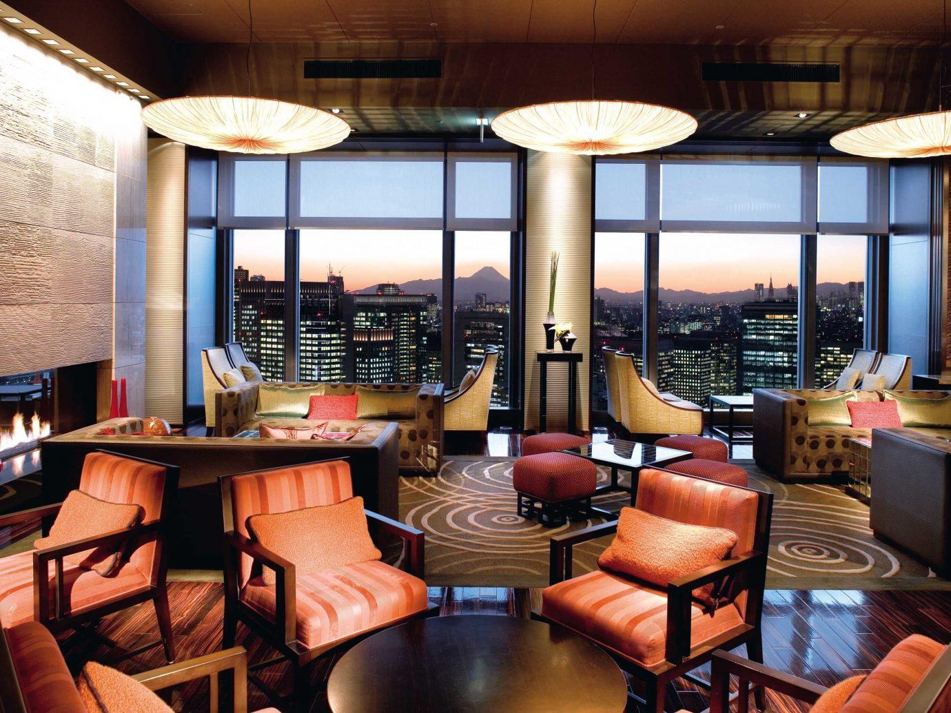 City Elegant Hotels Japan Lobby Lounge Luxury Modern Tokyo table indoor chair Living room window restaurant Resort café interior design Bar estate real estate living room furniture area leather