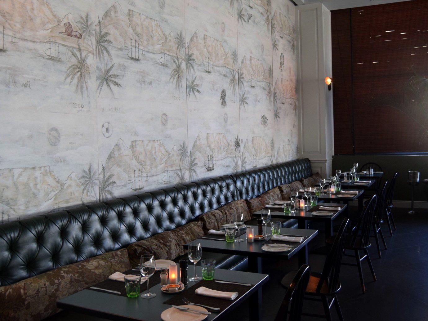 Food + Drink indoor room wall interior design restaurant Design furniture
