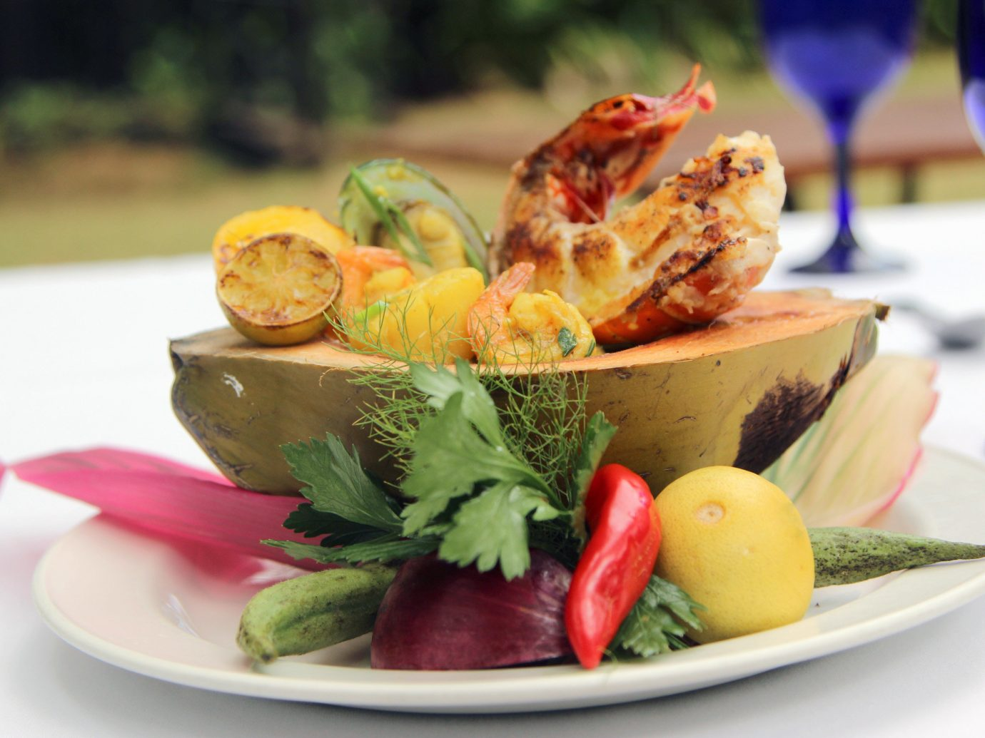 Hotels plate dish food meal produce hors d oeuvre Seafood cuisine sense vegetable lunch arranged fresh