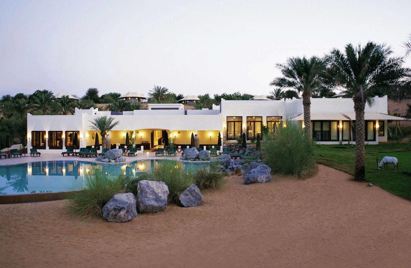 Dubai Hotels Luxury Travel Middle East Resort property home estate real estate Villa leisure house swimming pool hotel hacienda cottage