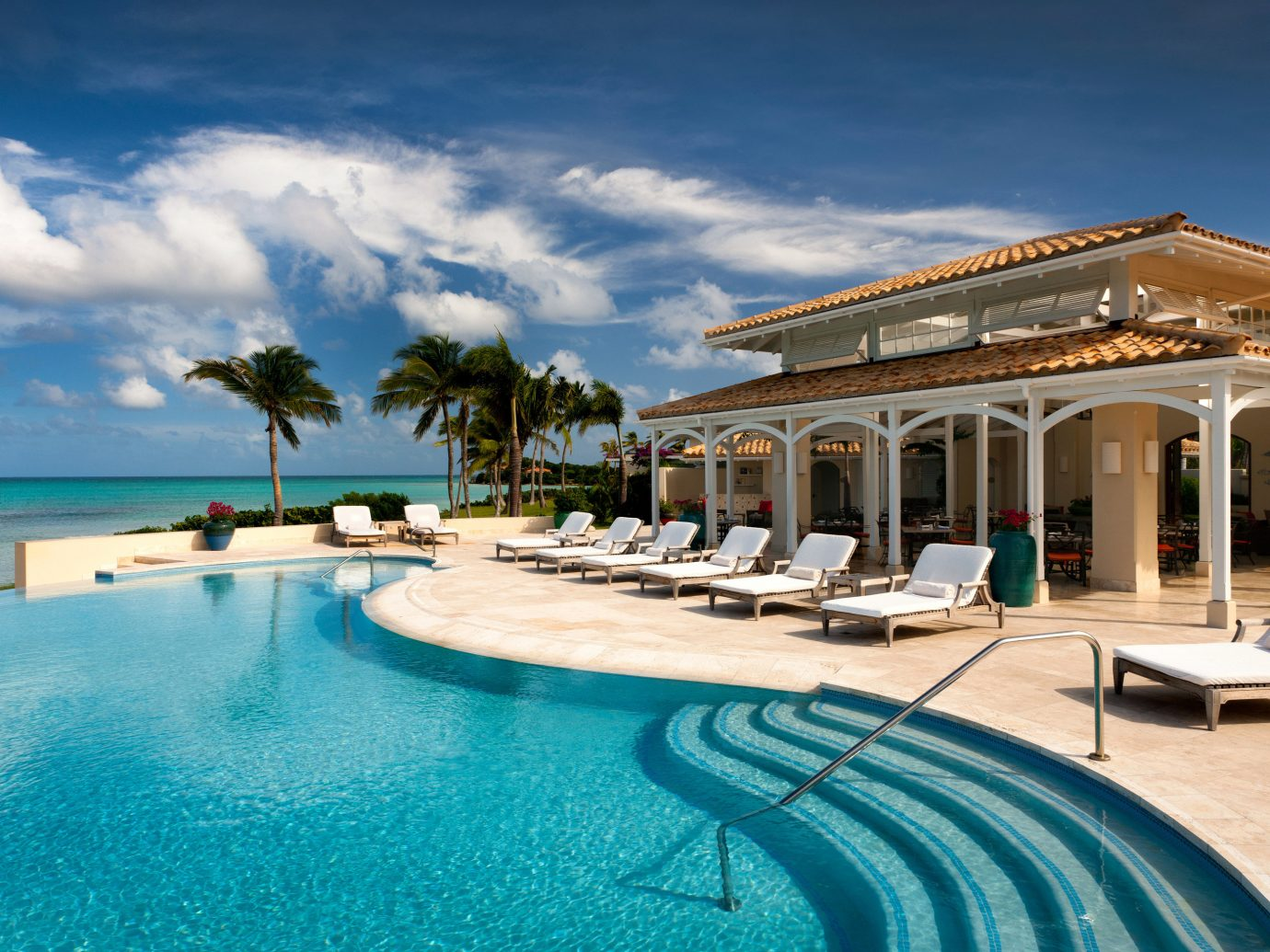 All-inclusive All-Inclusive Resorts Beach Beachfront Hotels Island Luxury Pool Romantic Hotels Waterfront sky outdoor swimming pool leisure property vacation estate Resort caribbean home Sea Villa mansion blue shore day