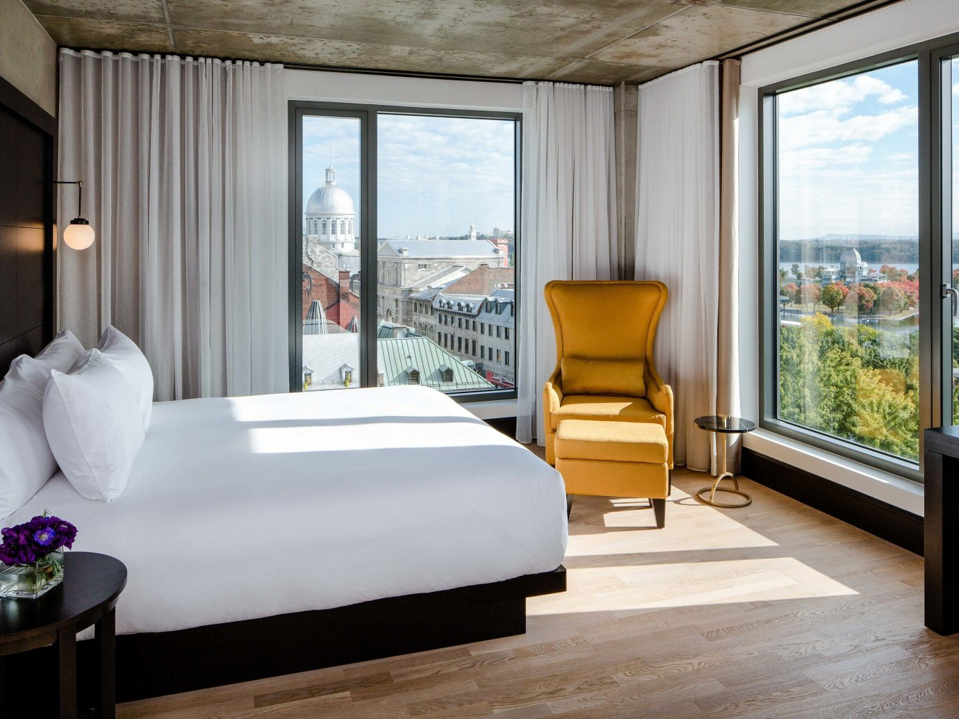 Canada Hotels Montreal Trip Ideas indoor window floor room bed wall sofa hotel Living interior design Suite Architecture furniture Bedroom ceiling bed frame real estate window covering penthouse apartment window treatment nice interior designer mattress estate decorated flat