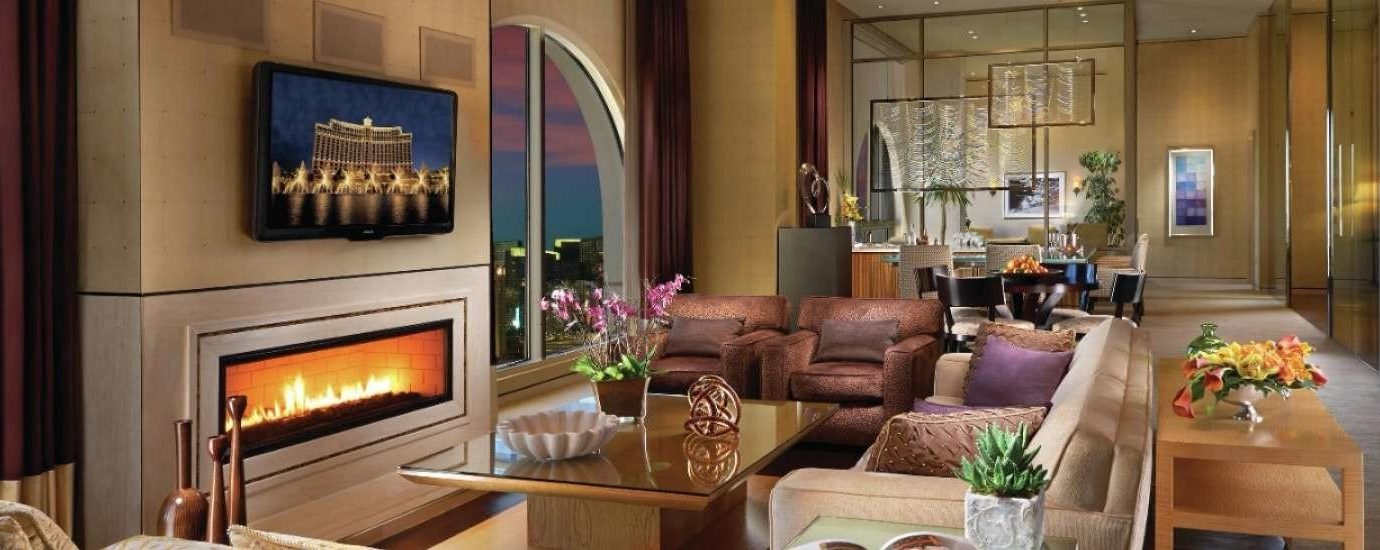 Living room in the Chairman Suite, The Bellagio