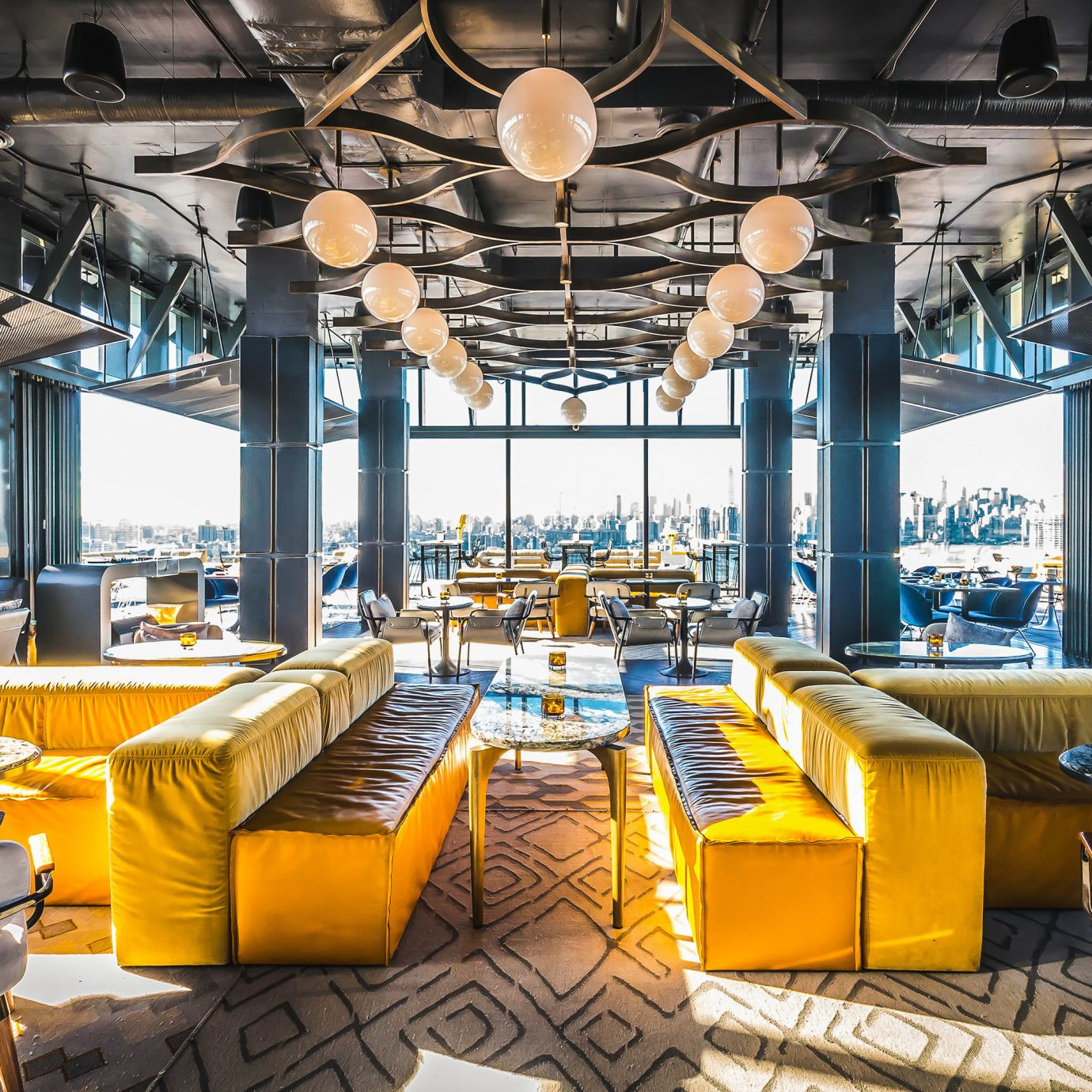 Boutique Hotels Food + Drink Hotels building indoor table yellow ceiling restaurant interior design industry several