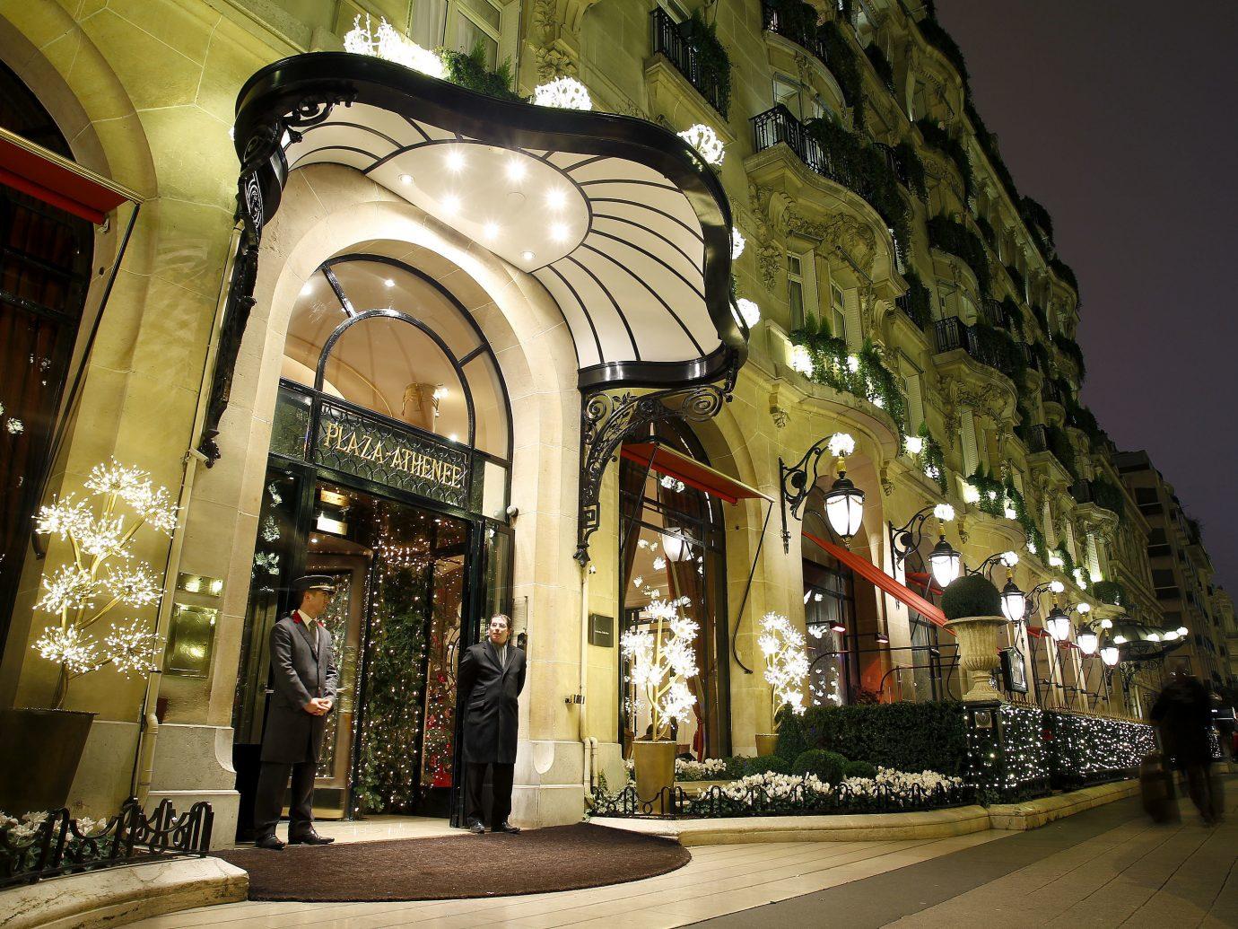 Hotels Luxury Travel road Town urban area night Architecture street lighting arcade arch