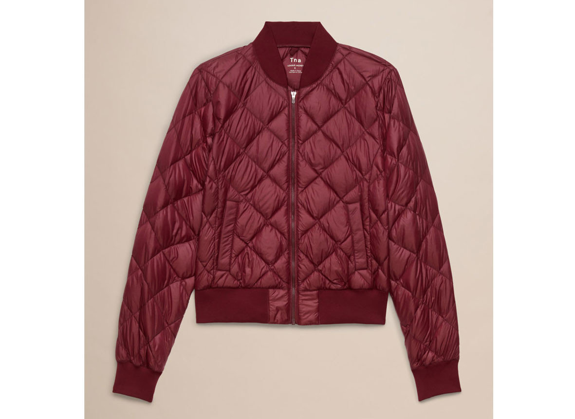 Style + Design clothing maroon outerwear jacket magenta sleeve pattern textile blazer leather sweater