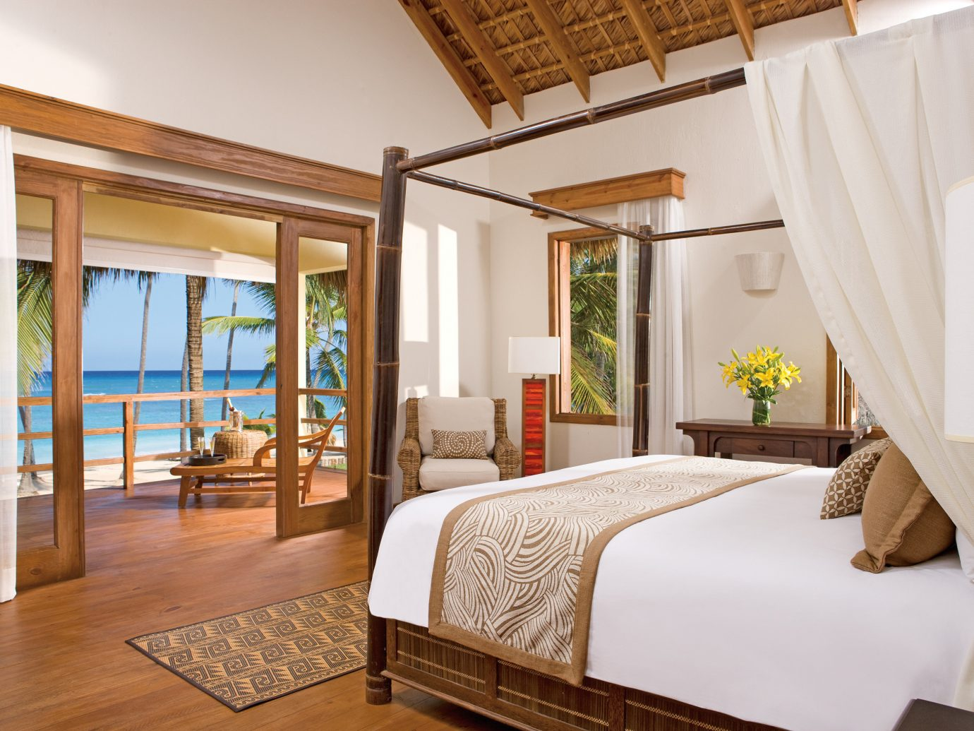 Bedroom At All Inclusive Zoetry Agua Punta Cana Hotel