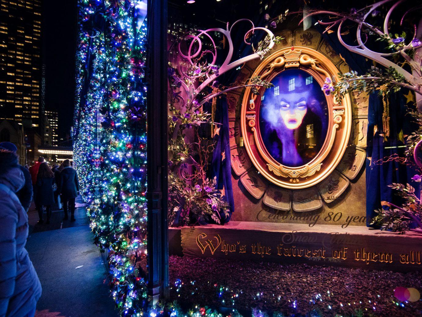 Offbeat Winter purple light festival lighting christmas decoration night christmas lights tradition event Christmas fête decor computer wallpaper world colorful