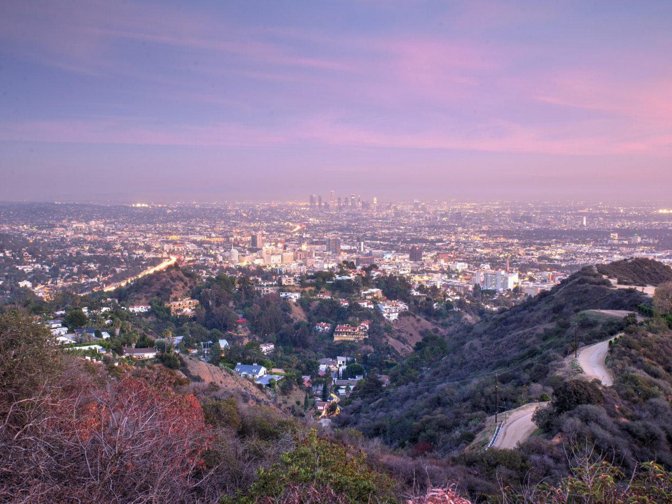 Budget outdoor sky Nature mountainous landforms geographical feature valley mountain horizon City human settlement hill aerial photography canyon morning skyline cityscape evening landscape dusk Sunset dawn panorama overlooking hillside