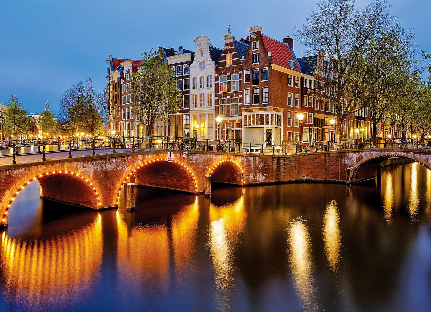 Cruise Travel Luxury Travel sky water outdoor reflection waterway Canal body of water landmark City bridge Town night evening River tree cityscape plant bank tourist attraction watercourse channel metropolis traveling arch several