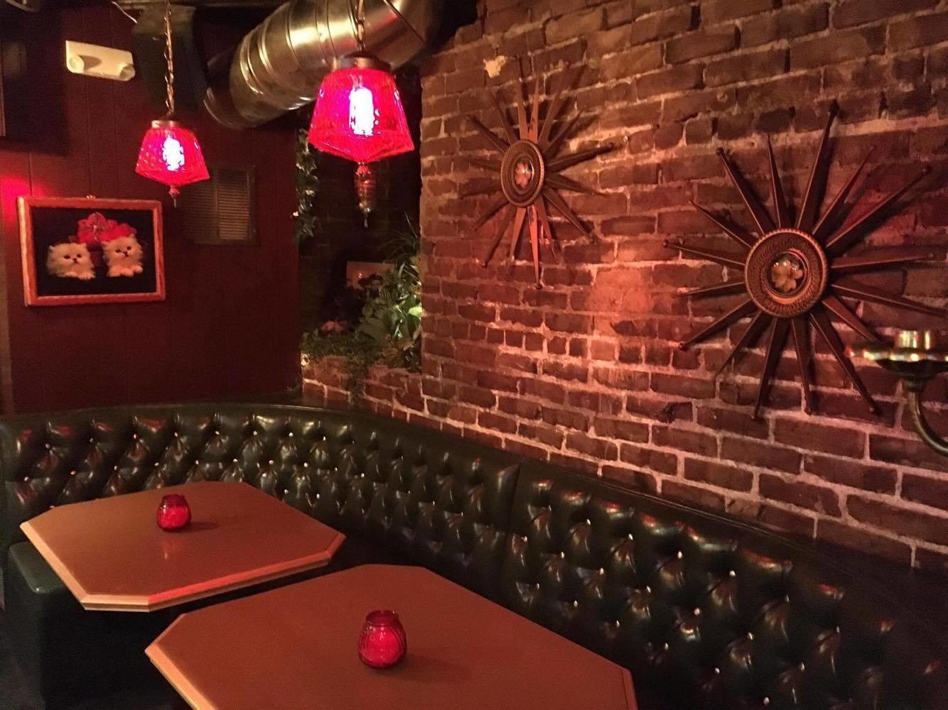 Food + Drink Style + Design Trip Ideas Weekend Getaways indoor interior design lighting restaurant recreation room Bar pub table