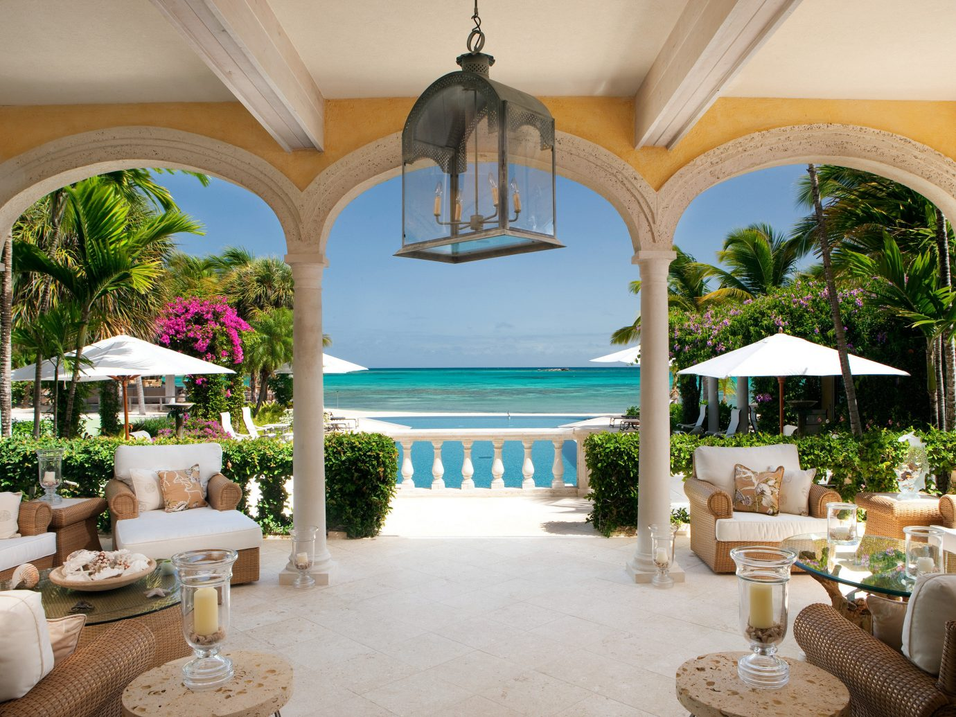 All-inclusive All-Inclusive Resorts Beach Beachfront Courtyard Hotels Island Lounge Luxury Patio Romantic Hotels Scenic views Suite Waterfront estate property Resort Villa room mansion vacation home hacienda interior design palace real estate caribbean furniture living room restaurant area decorated colonnade