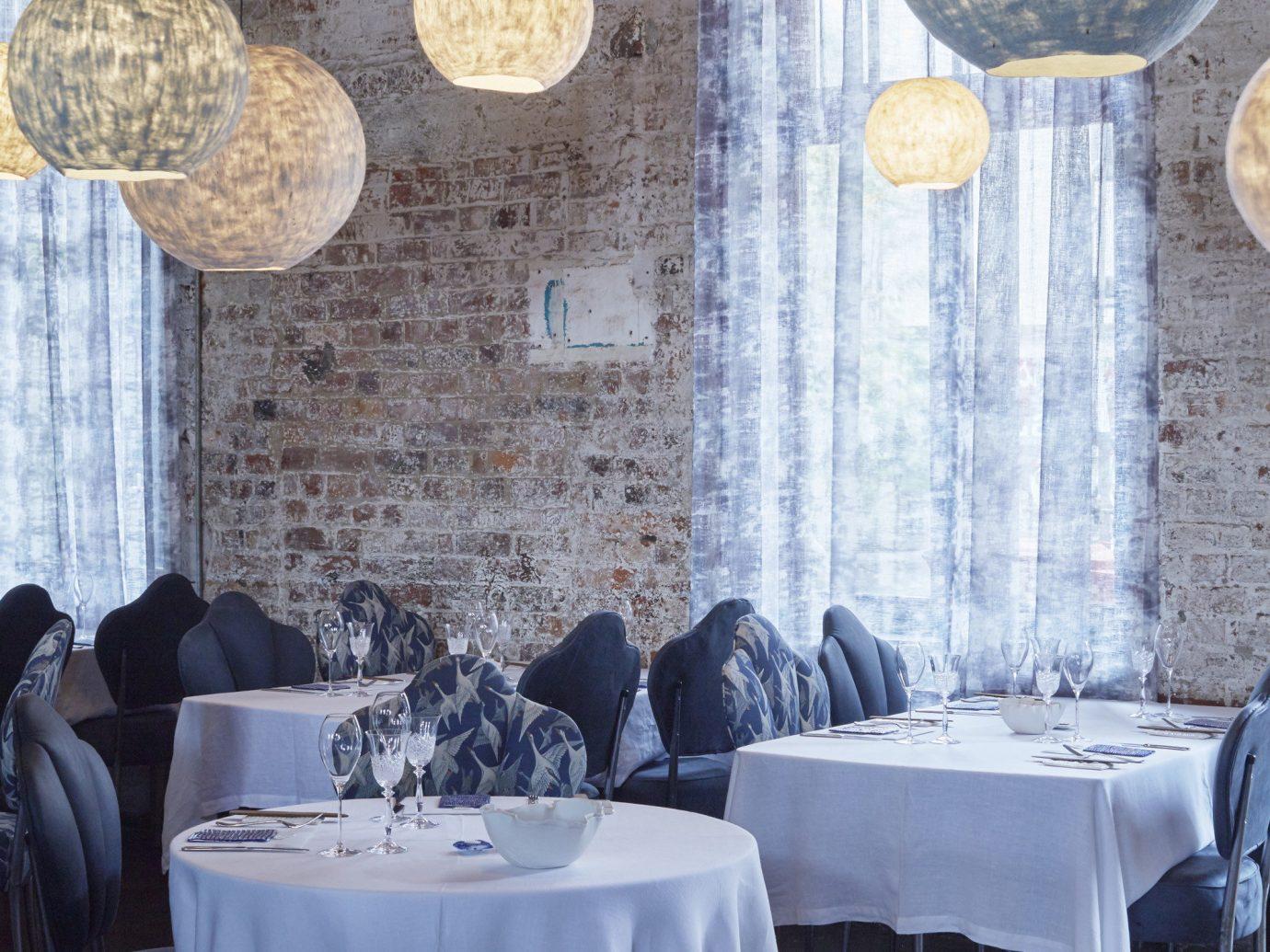 Trip Ideas floor indoor blue room restaurant interior design home table dining room furniture