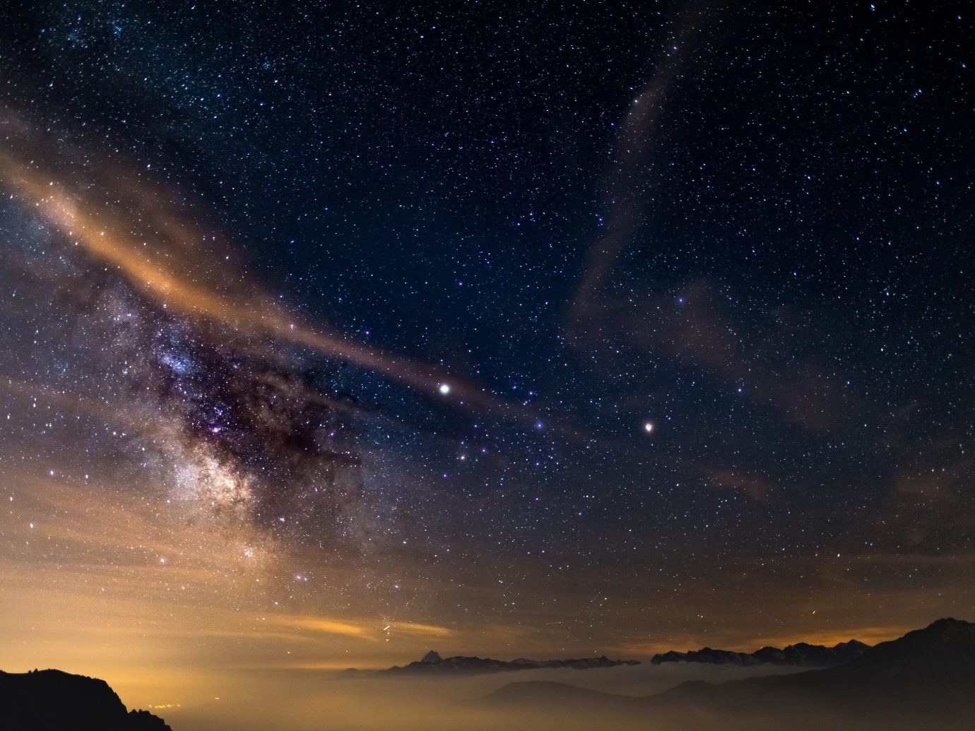 News sky galaxy astronomical object Nature night astronomy atmosphere star outer space spiral galaxy milky way space outdoor object Night Sky