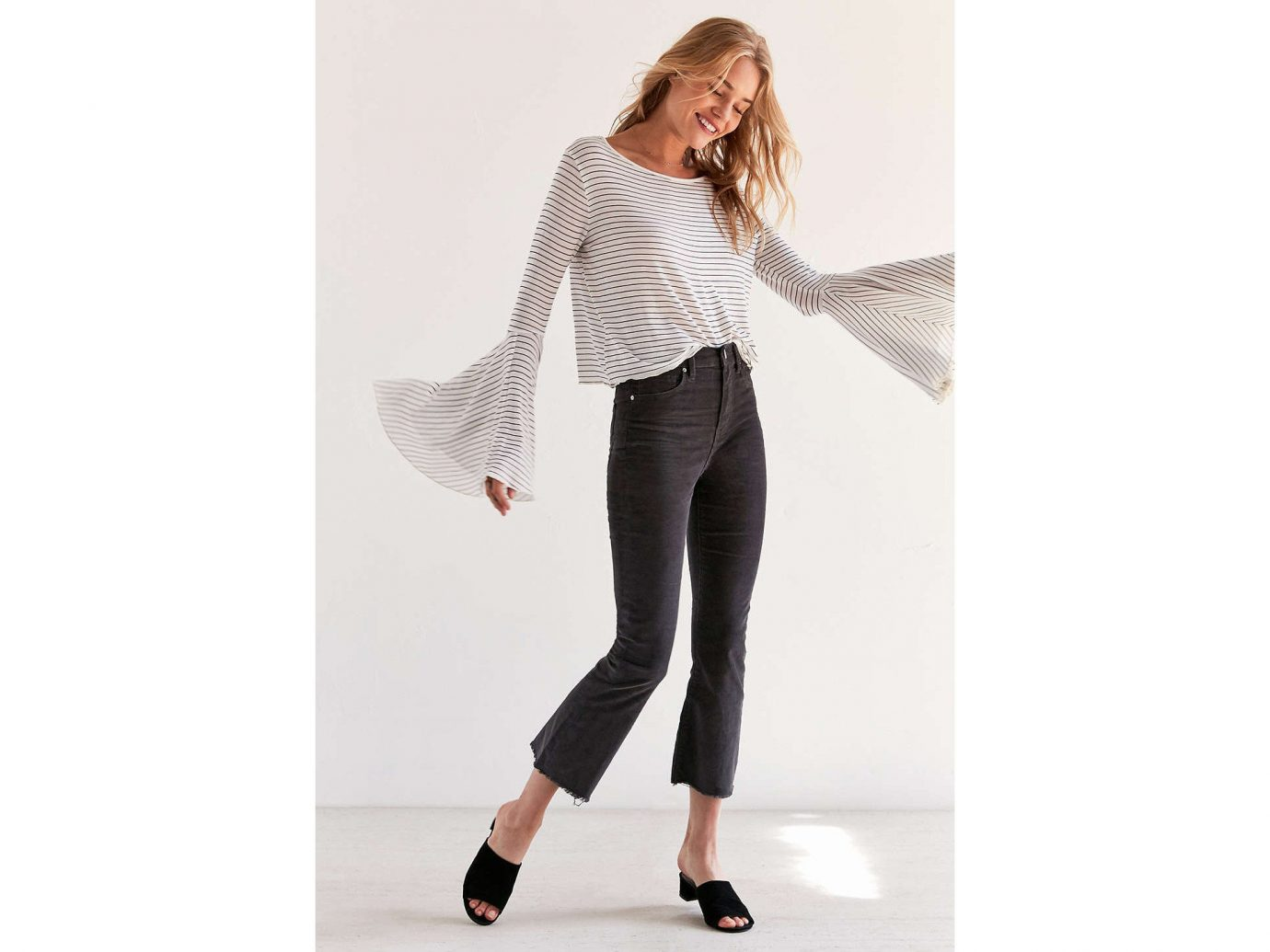 Style + Design clothing person woman jeans shoulder fashion model waist leggings outerwear neck joint sleeve trousers tights trunk abdomen shoe pattern trouser posing