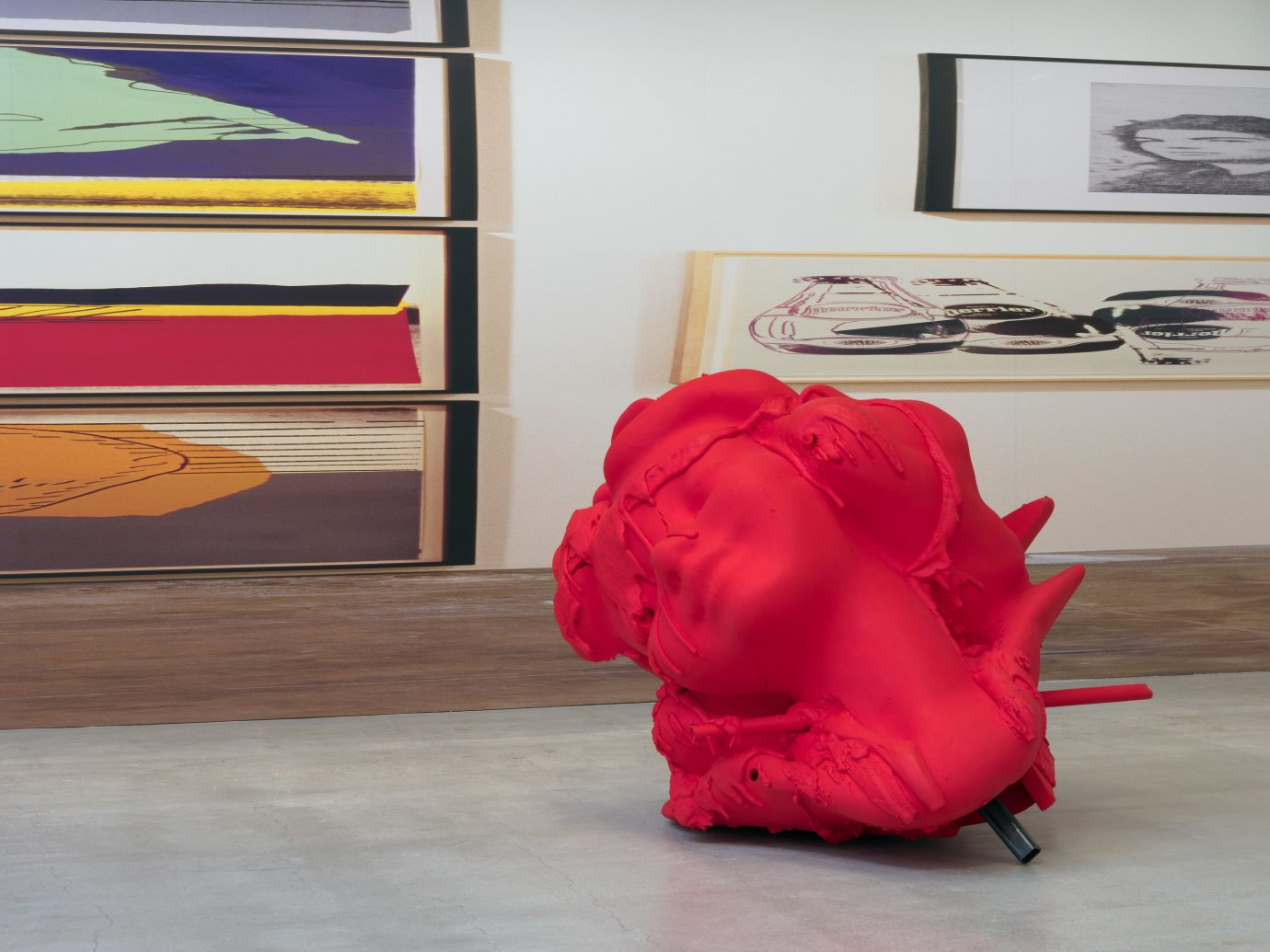 Arts + Culture Hotels Jetsetter Guides shopping Travel Trends Trip Ideas indoor red pink textile flooring furniture Design art floor table modern art interior design