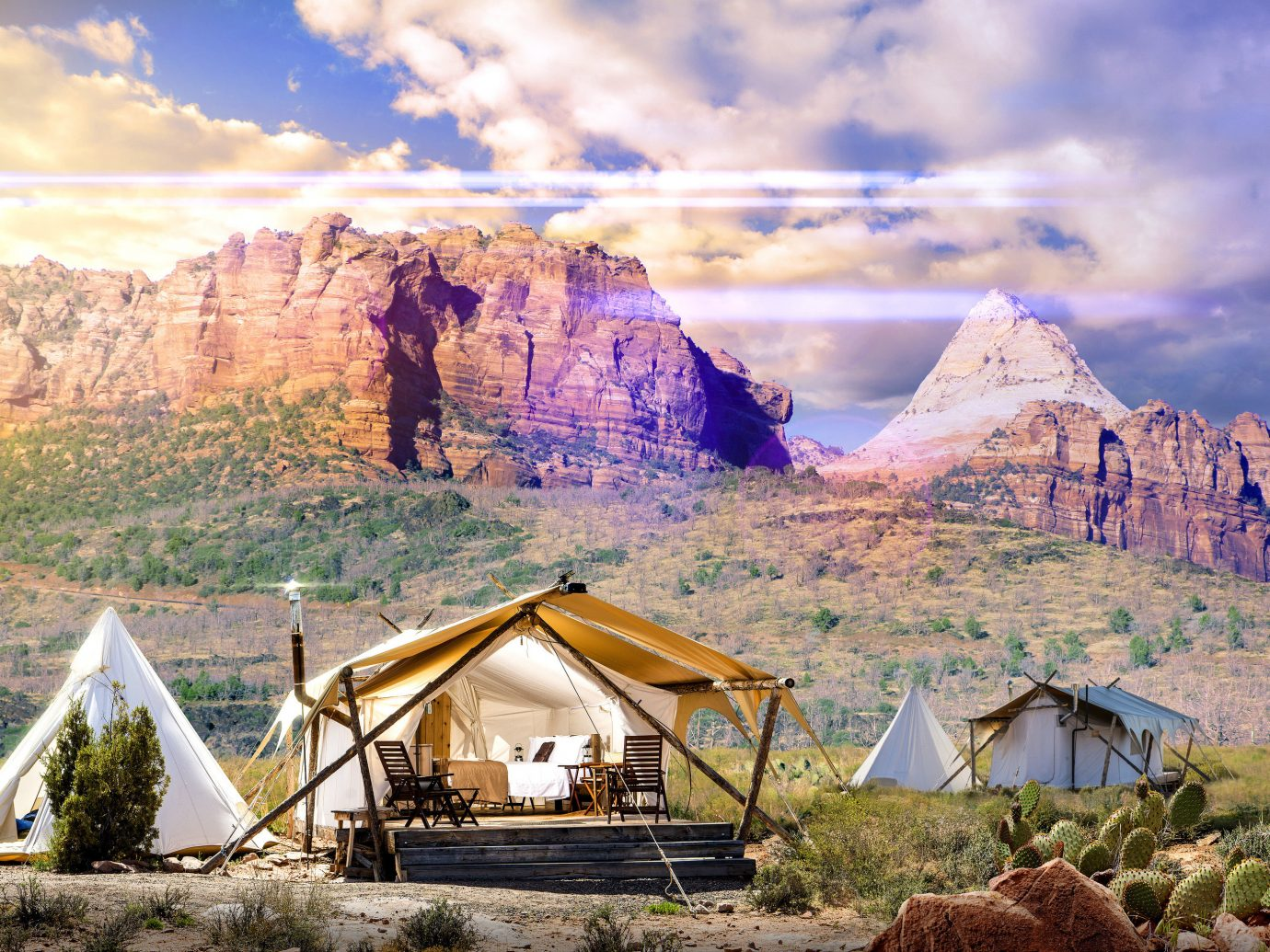 Glamping Outdoors + Adventure Trip Ideas mountain outdoor sky mountainous landforms geographical feature wilderness mountain range rock valley landscape Nature rural area plateau alps hut